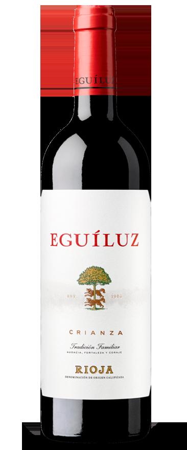 Botella de vino de Rioja Eguíluz Crianza