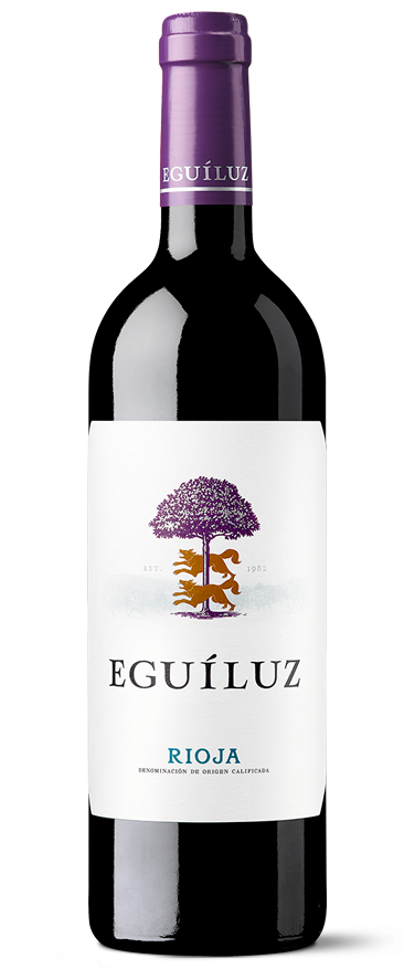 Botella de vino de Rioja Eguíluz Joven