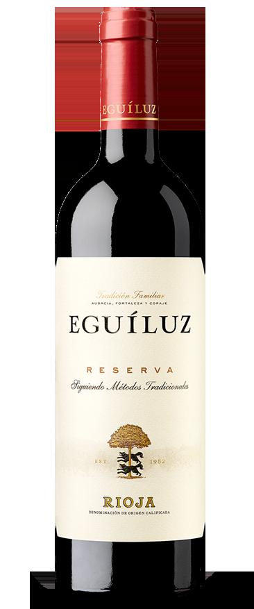 Botella de vino de Rioja Eguíluz Reserva